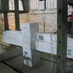 Испытание экспериментального узла стыка сборно-монолитных балок и колонны