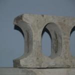Опытный образец опорного узла многопустотной плиты перекрытия