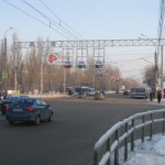 Опоры для светофоров реверсивного движения на Московском шоссе в г. Самаре
