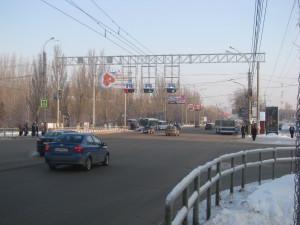 Проектирование зданий и сооружений, Опоры для светофоров реверсивного движения на Московском шоссе в г. Самаре